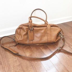 Sole Society Mason Weekender Cognac Tote Bag